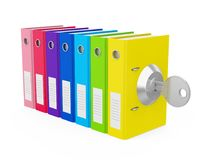 Ring Binder Locked Isolated Fotografie Stock Libere da Diritti