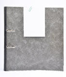 Ring binder with memo Royalty Free Stock Photos
