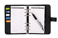 Ring binder organizer Stock Photo