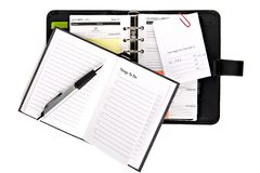 Ring binder organizer with things to do list Stock Image