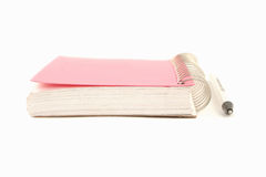 Ring binder and pen royalty free stock photo
