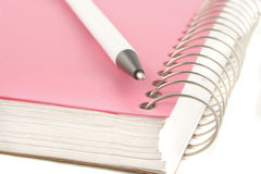 Ring binder and pen Stock Photos