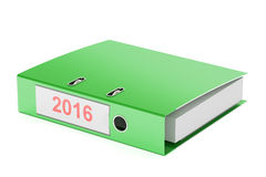2016 ring binder, report concept. 3D rendering. On white background royalty free illustration