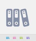 Ring Binders - ícones do granito ilustração stock