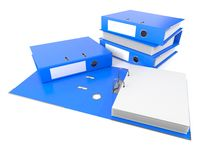 Ring binders with blank space Stock Photo