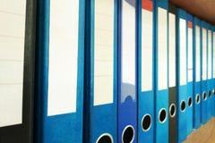 Ring Binders. Document organization. File archive office shelf. Ring Binders. Document organization stock photos
