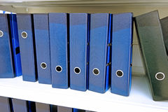 Ring binders on the shelf Royalty Free Stock Image