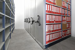 Ring binders storage Stock Photo