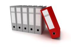 Ring Binders vermelho Fotos de Stock