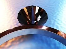 Ring Black Dimond Immagine Stock