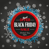 Ring Black Friday Snowflakes Dark Background Royalty Free Stock Photos