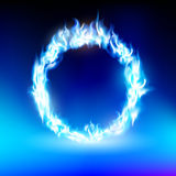 Ring with a blue flame. Vector ring with a blue flame Stock Images
