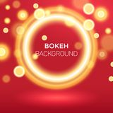 Ring Bokeh Background Vector Illustration d'or abstrait illustration stock