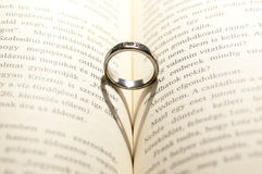 Ring on Book Royalty Free Stock Image