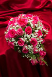 Ring on bouquet. Royalty Free Stock Images