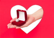 Ring in a box Royalty Free Stock Photography