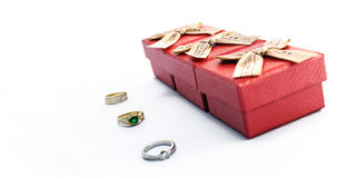 Ring and boxes Stock Photos