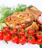 Ring bratwurst bread Royalty Free Stock Images