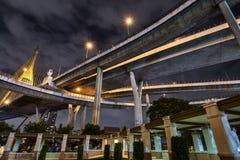 Ring Bridge industriel à Bangkok Thaïlande photographie stock libre de droits