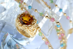 Ring with brilliants Stock Image