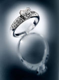 Ring with brilliants Royalty Free Stock Images