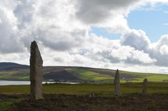 Neolithic Ring of Brodgar in the island of Mainland island, Orkney archipelago, Scotland