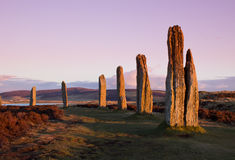 Ring Of Brodgar at dusk Royalty Free Stock Images