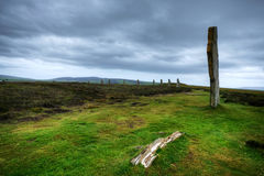 The Ring of Brodgar in Orkney at dusk Stock Images