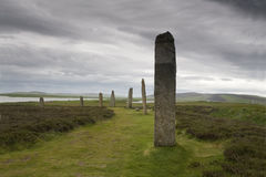 The Ring of Brodgar in Orkney Stock Photos