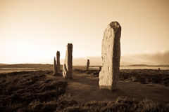 Ring Of Brodgar, Orkney royalty free stock photo
