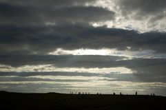 Ring of Brodgar, Orkneys, Scotland Royalty Free Stock Images
