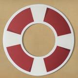 Ring buoy life saver icon isolated on background Royalty Free Stock Photos