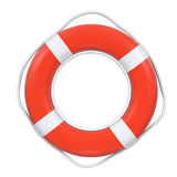 Ring-buoy, ring buoy, life buoy. Red life buoy with rope isolated royalty free illustration