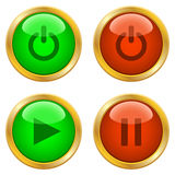 Ring buttons for web Royalty Free Stock Photo