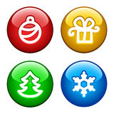 Ring buttons for xmas Royalty Free Stock Images