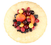 Ring cake filled with fruits Royalty Free Stock Image