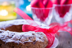 Ring cake with icing sugar Royalty Free Stock Photography