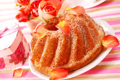 Ring cake in romantic style Stock Photo