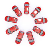 Ring of cars Royalty Free Stock Photos