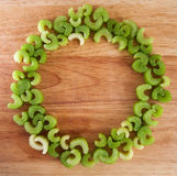 Ring of celery pieces Stock Photo