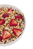 Ring cereals with strawberry Stock Photos