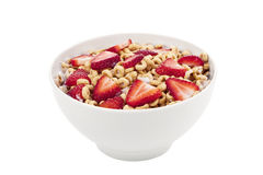 Ring cereals with strawberry Royalty Free Stock Image