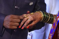 Hindu engagement ceremony royalty free stock photography