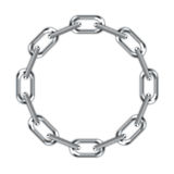 Ring of chain. Digital creation of a chain in a ring on a white background Stock Photos