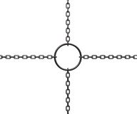 Ring on chains Stock Images