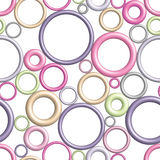 Pattern of rings seamless colorful circle Stock Image
