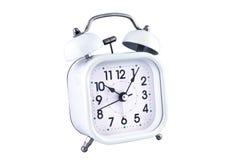 Ring clock. White ring clock for awake in the morning Royalty Free Stock Photo