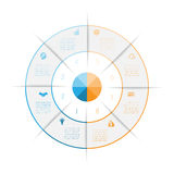 Ring from colored lines infographic eight number options Stock Images