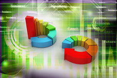 Ring colorful business chart. 3d illustration of ring colorful business chart Stock Photography