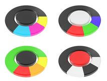 Ring  from colour segments Stock Image